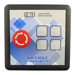 36-HHE-4, Air-Eagle SR Plus, 2.4GHz, 600 Ft. Range, Single Latching Stop Button, Four Button Keypad