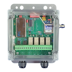 465-8-ESTOP-DC - Air-Eagle XLT Plus, 900MHz, Four Relay, Failsafe Linking to Special E-Stop Transmitters (Contact BWI Eagle), 9-36VDC Powered