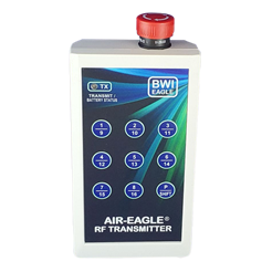 Air-Eagle XLT, 900MHz, 2500 Ft. Range, Single Latching Stop Button, Nine Button Keypad, 16-Function, USB Rechargeable
